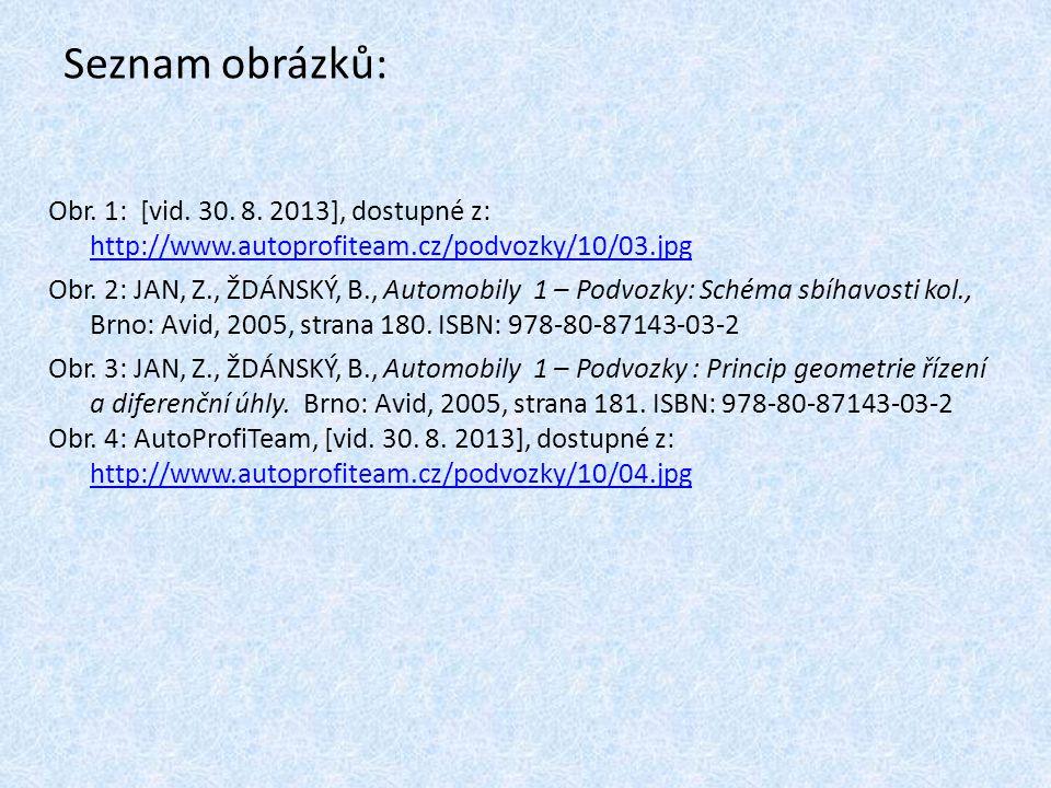 Seznam obrázků: Obr. 1: [vid. 30. 8. 2013], dostupné z: http://www.autoprofiteam.cz/podvozky/10/03.jpg.